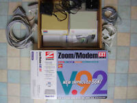 Two dial-up external modems by Zoom