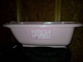 Pink mothercare baby bath