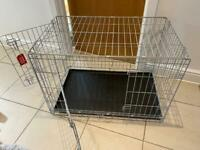 Large/medium dog crate double door