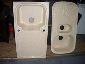 Kitchen Sink, Quartz / Ceramic kitchen sink, 1.5 sink. white kitchen ...