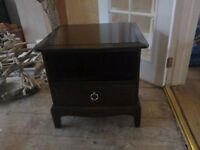 Mohogany stag bedside table