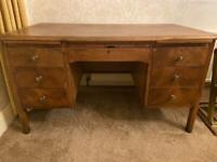 Antique oak teacher's desk