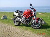 Ducati Monster 696 Plus-one lady owner from new, FSH, Scott oiler, Data Tagged, crash bungs, garaged