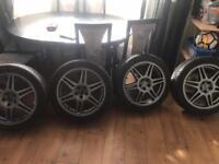 PRODRIVE SPEEDLINE SUBARU VW WRX 5x100 215/45/17 ALLOYS WHEELS £150