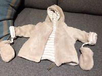 3 warm cardigans for babies 0-3 months