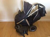 Bargain Oyster Max double pram with extras