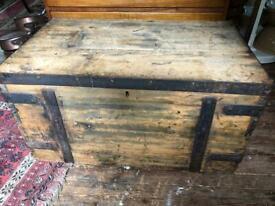 Victorian pine cottage chest
