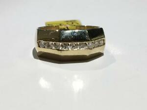 #120 14K YELLOW GOLD DIAMOND BAND 1/2CT TOTAL! *SIZE 6 1/2* APPRAISED FOR $2550.00 SELLING FOR $850.00!
