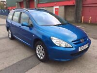 Peugeot 307 SW 2.0 HDi S 5dr (MOT UNTIL AUGUST 2018) (1 OWNER FROM NEW) 2003