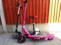 Razor E100 Pink & Electric E Scooter With Seat, Spares or Repair