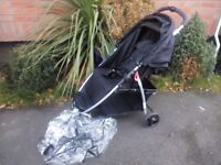 Babystart Ria 3 x wheeler pushchair with raincover in good condition