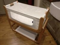 SnuzPod Bedside Crib, Natural (wood), Great condition, £120