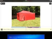 Gazebo awning 6x3 metres steel pop up with sides & door not cheap plastic , colour green or blue