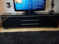 Ikea Besta Burs black gloss TV unit VGC