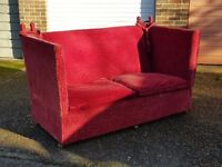 Cherry Red Large Knowle Settee