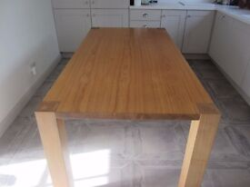 Solid wood table - honey coloured - large; seats 6-8 people DINING