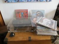 JOBLOT OF COLLECTABLE VINYL AND AN ORIGINAL PROJECT PERSPECTIVE FOR SALE.
