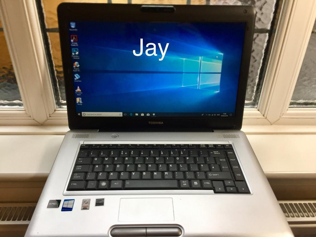 Toshiba Satellite HD 4GB Ram Quick Laptop 250GB,Window10,Microsoft office,Ready to usein Sunderland, Tyne and Wear - Ready for office,business, uni and home eg Facebook, eBay ,surfing the net ,light gaming Excellent condition Toshiba satellite HD Laptop AMD Athlon x2 Dual core QL 64 2.10Ghz250GB Harddrive 4GB ram Genuine Windows 10 pro setup for easy use Screen...