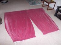 Velvet curtains fully lined good condition