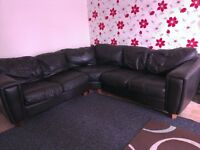 Leather corner settee Free to collector
