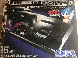 Sega Megadrive with 3 games and 2 controllers