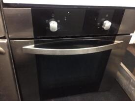 Black 60 by 60 integrated electric grill & fan oven good condition with guarantee bargain
