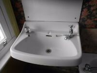 Traditional vintage white basin