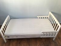 Tiptoes Toddler Bed, Mattress and 3 Mattress Protectors FOR SALE