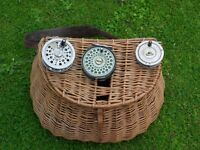 Vintage fly reels for sale. Hardy/ Shakespeare and Olympic