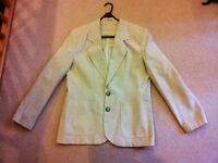 Smart cream, Linen Suit (Jacket and Skirt), size 14/16