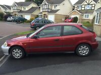 Car - Honda Civic 1.4 3dr - Red