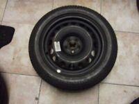 VW GOLF,mercedes, Passat seat skoda bmw Spare Wheel and tyre 205/55/16 not alloy