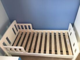 John Lewis boris toddler bed in white. Less than a year old