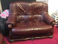 Leather Sofa Set (3 seater + 2 seater)