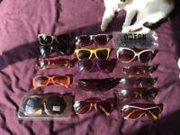 16 pairs of sunglasses including designers, Polaroid, cycling, skiing and fashion