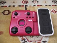 Zoom B1X Bass Guitar Multi-effects Pedal includes drum tracks & synth bass effects
