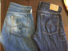 Diesel and replay jeans 34/34