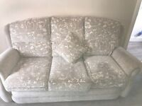 Cream fabric Suite of furniture