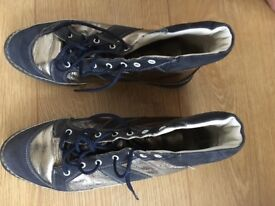 Genuine Bally leather boots/trainer shoes
