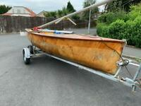 Wooden Firefly Sailing Dinghy