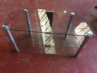 Clear Glass Television Stand