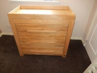 Solid Oak 2 Piece Nursery Set (Mamas & Papas VIB Moderno Natural Oak) £150 Was £1000