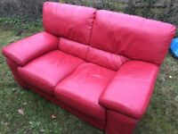 2 Seater red sofa, West Meon