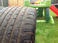 Two Tyres 20 inch They are like new 255/45/20, This Tyres Will Fit any 20 inch Alloy Wheels