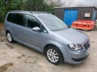 2010 VOLKSWAGEN TOURAN 1.9 TDI MATCH 105 BHP 5 DOOR HATCHBACK GREY 7 SEATER