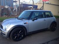 2001 Mini 1.6 super charged , silver with black alloys , panoramic roof . 1 years mot