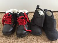 6-12 months 2 pairs of boots and 2 pairs of slippers brand new never worn some with tags