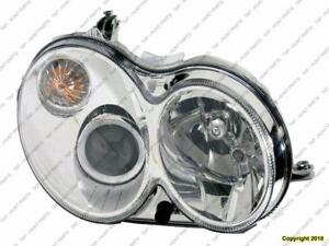 Head Lamp Passenger Side Without Curve Lighting Without Bulb/Module Clk Models High Quality Mercedes C-Class 2006-2007