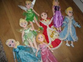 Disney princess soft dolls 20in in vgc