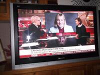 42 inch HD READY Panasonic Viera Plasma TV + Wall bracket + Freeview
